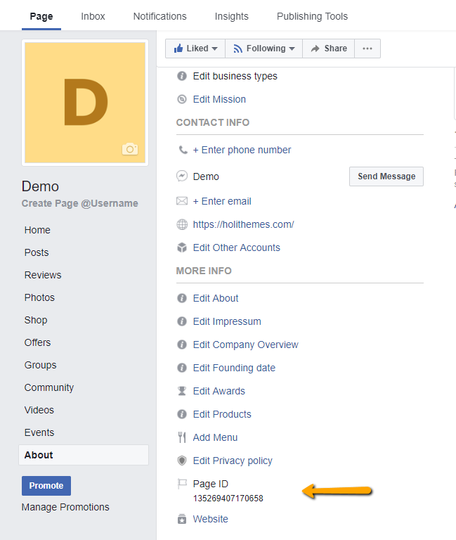 find facebook page id wp chatbot  ?page_id=41 #4