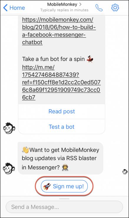 mobile-friendly chat button