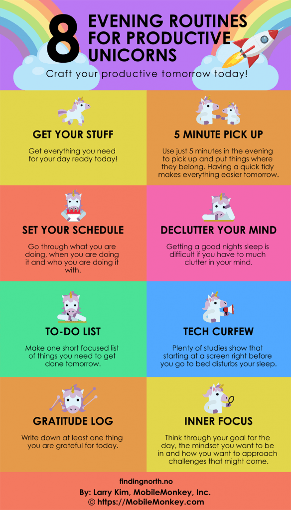 8 Evening Routines for Productive Unicorns