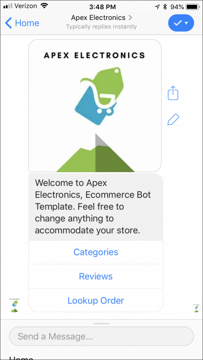 Facebook Messenger Templates