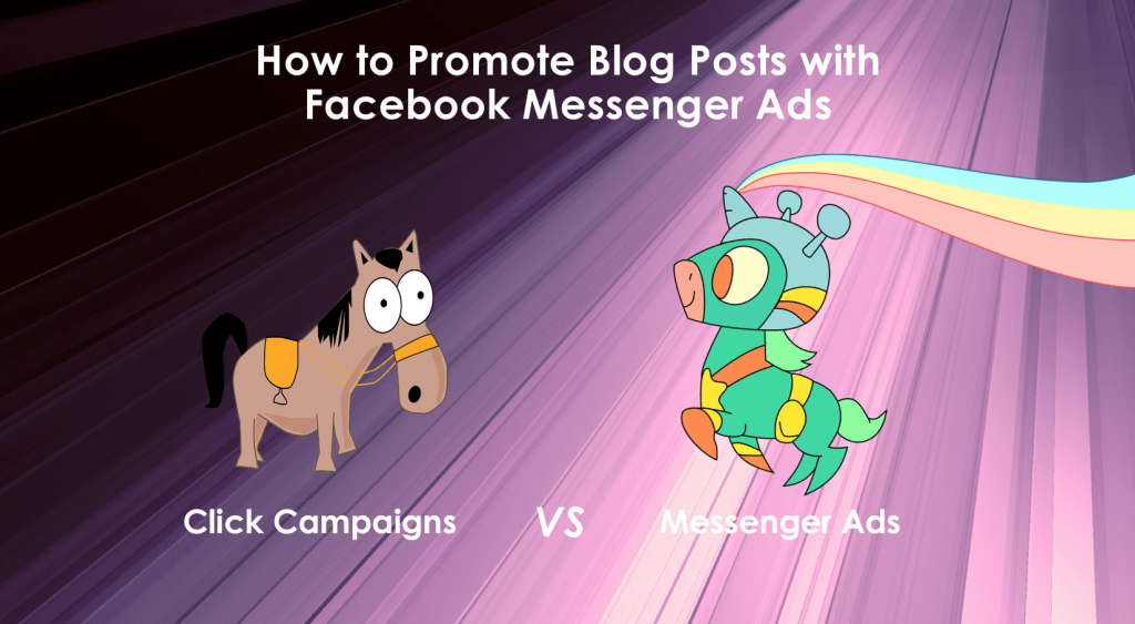 how to promote blog posts facebook messenger ad