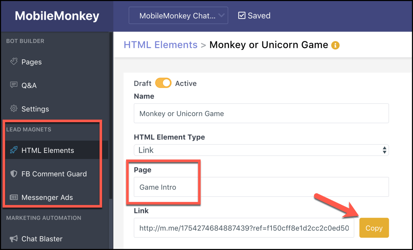 How to Create a Chatbot Using MobileMonkey - link to chatbot