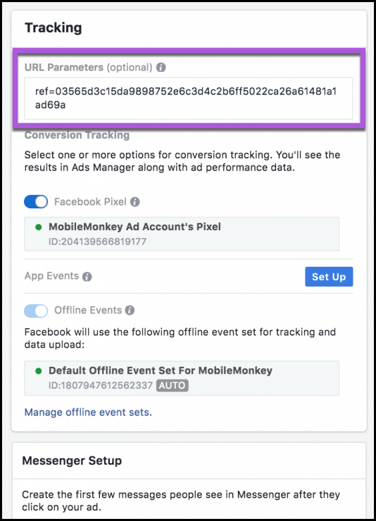 messenger-ad-tracking-parameter