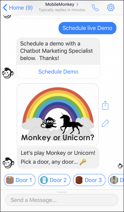 How to Create a Chatbot Using MobileMonkey - mobile friendly game chatbot