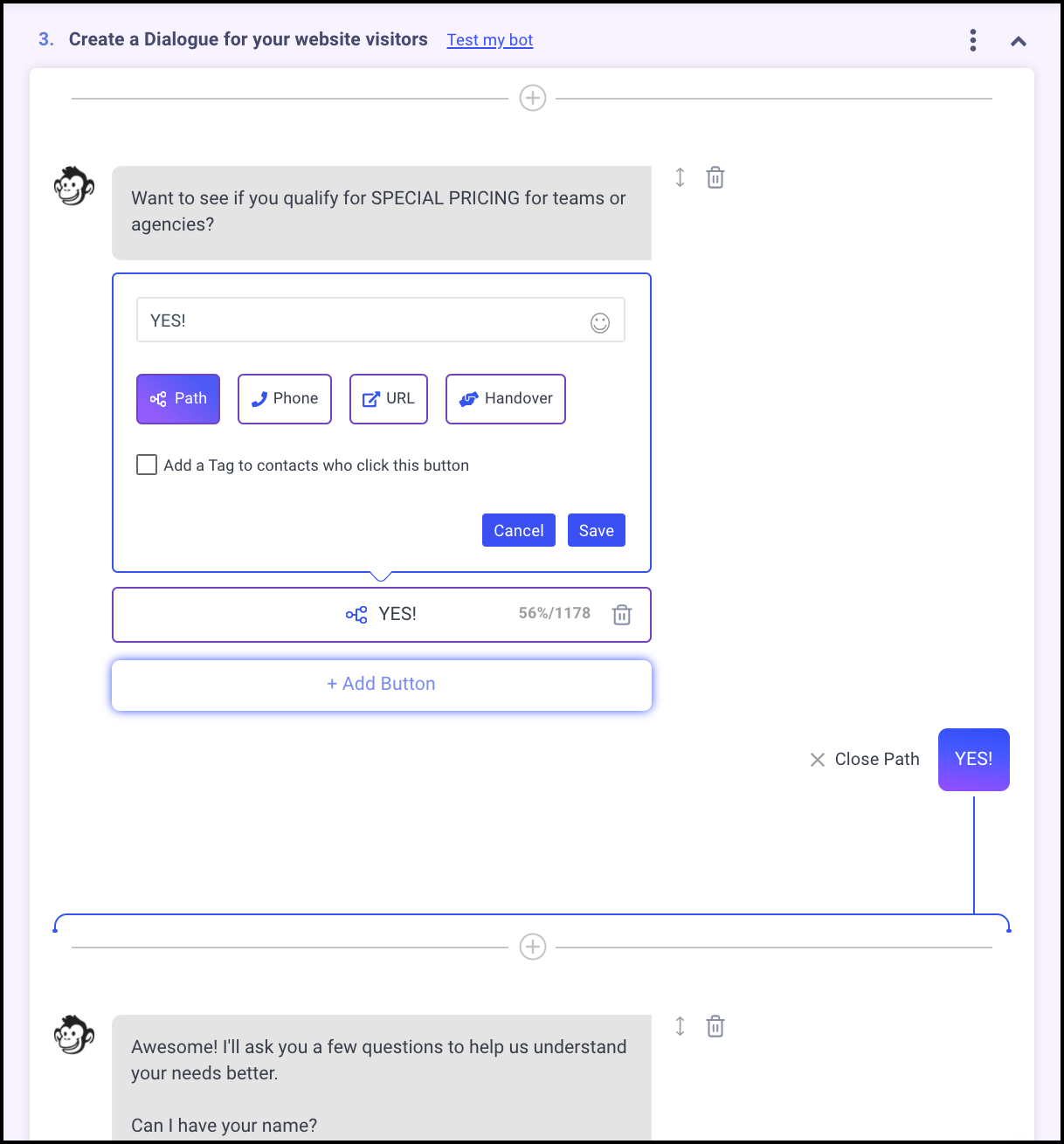facebook customer chat path