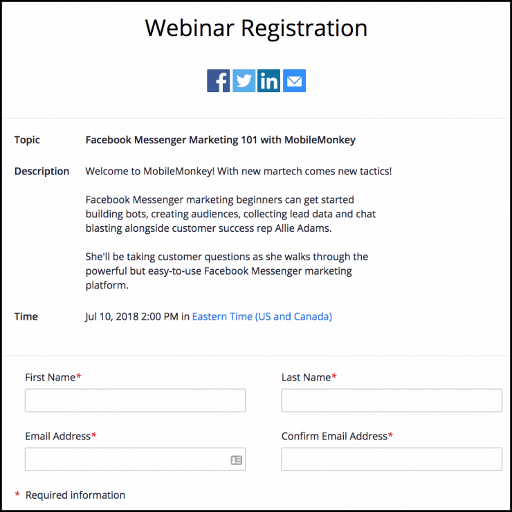 zoom webinar registration page