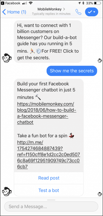 chatbot-response-to-messenger-ad-click