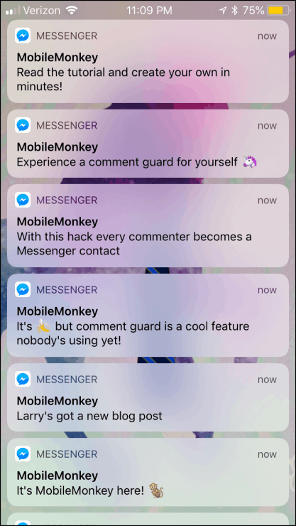 facebook messenger notifications