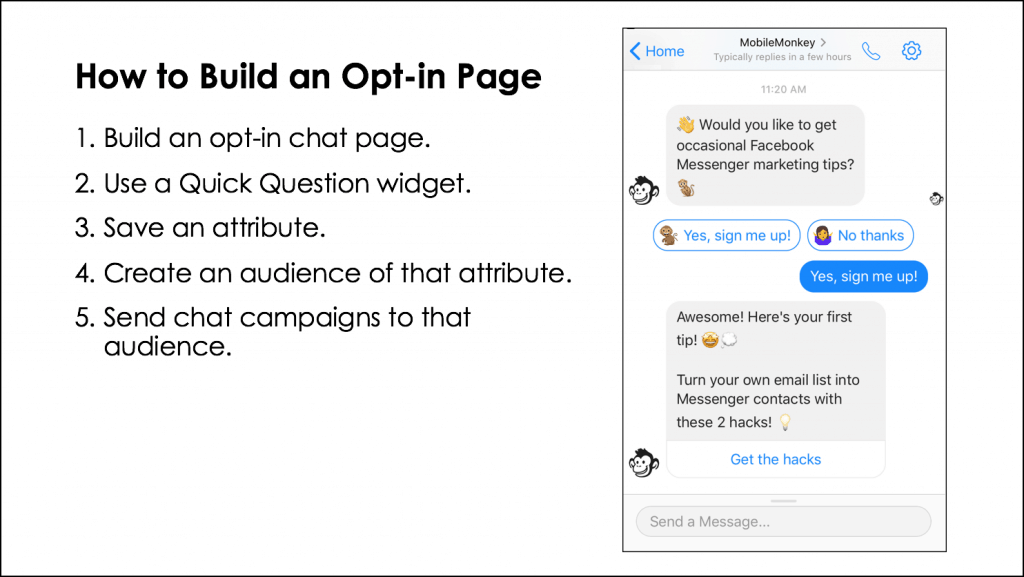 how to build an opt-in page