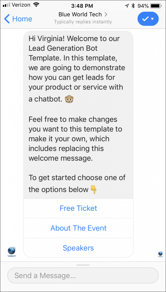 Facebook Messenger Templates, Chatbot Templates