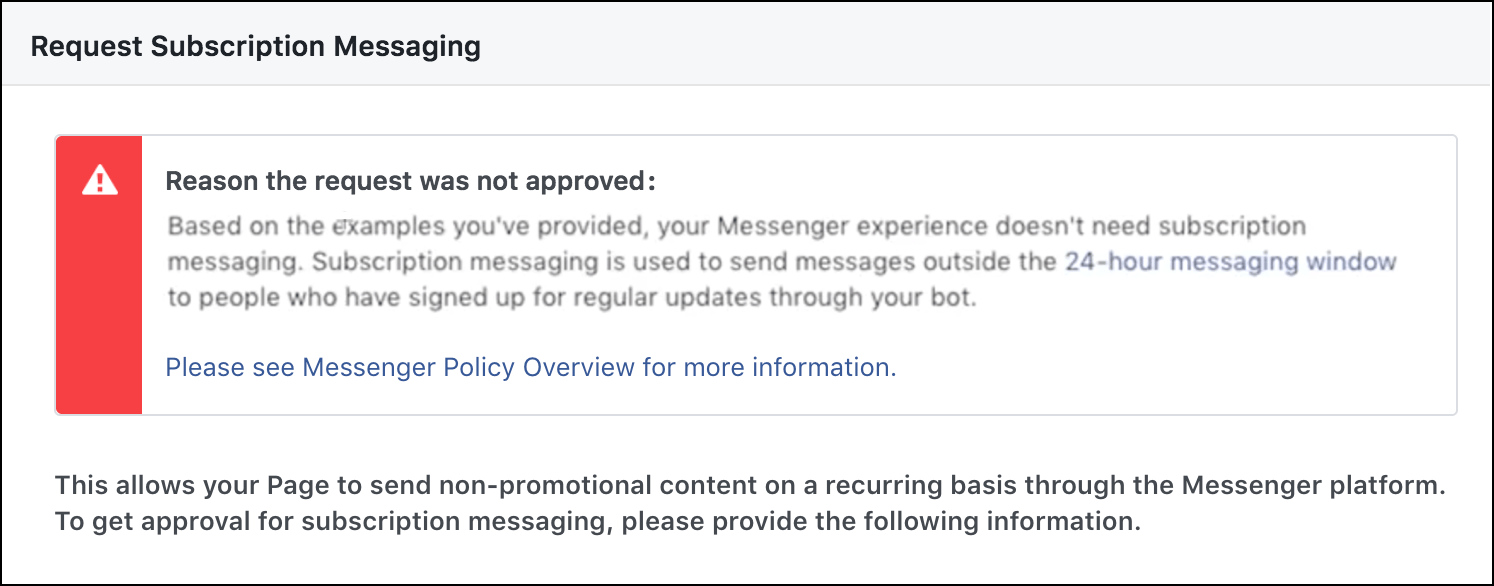 subscription-messaging-request-not-approved-standard-messaging