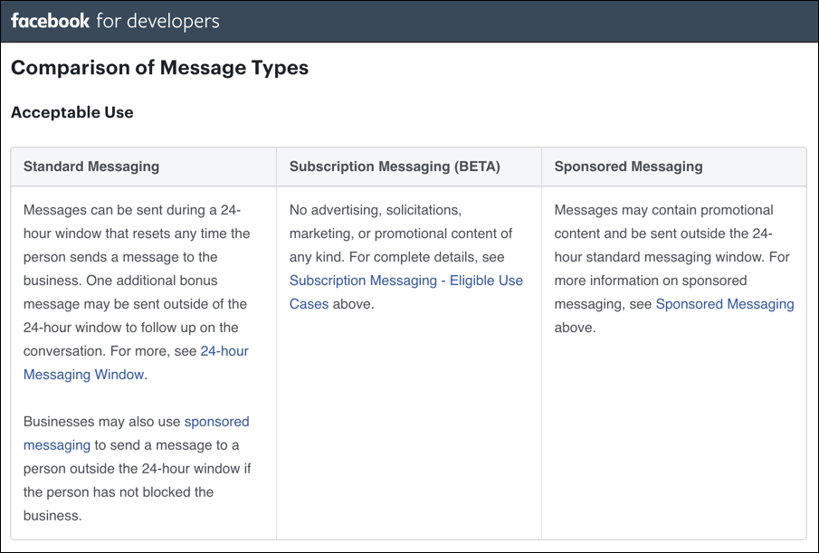 comparison-facebook-messaging-types