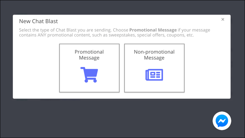 promotional nonpromotional chat blast