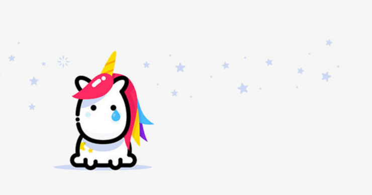 sad unicorn