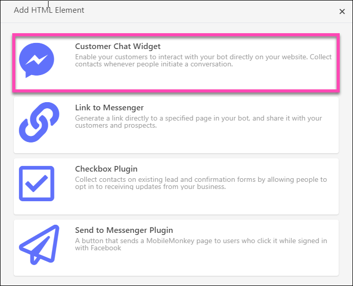 customer chat widget