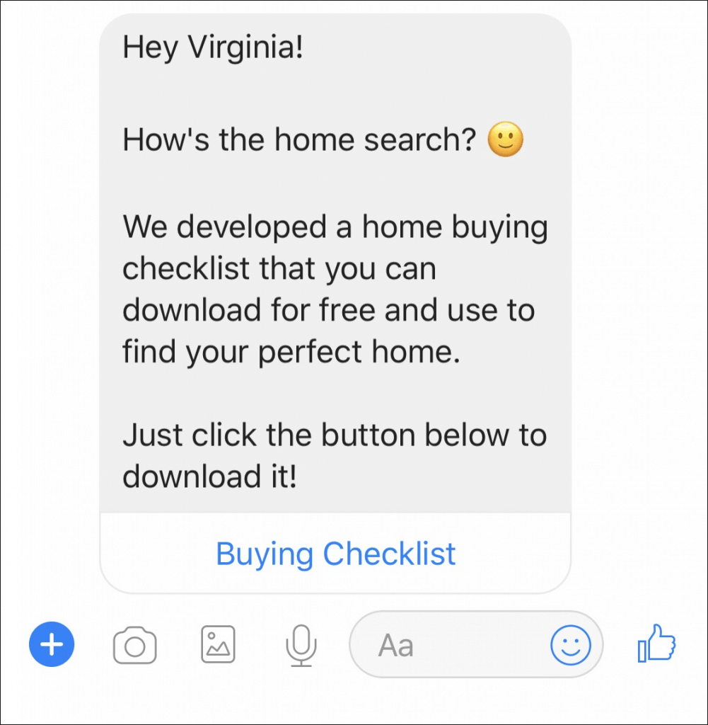 real estate chatbot drip campaign 1