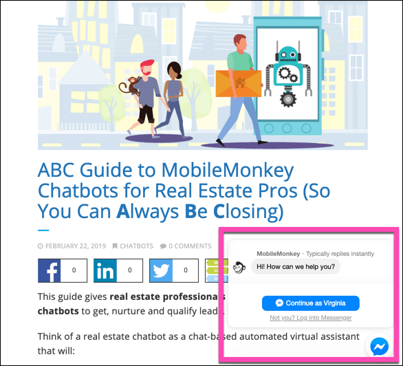 Facebook Tools: Mobile Monkey Chatbots in action