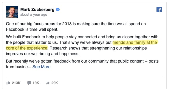 mark zuckerberg statement