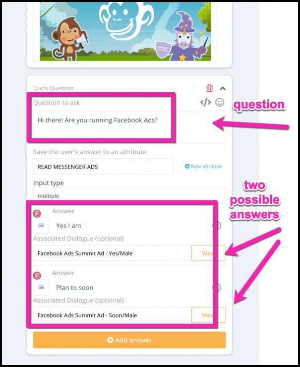 Chatbot Sequence Answers