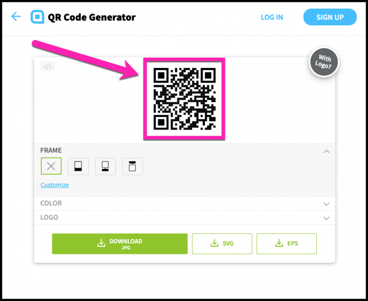 QR Codes for Messenger