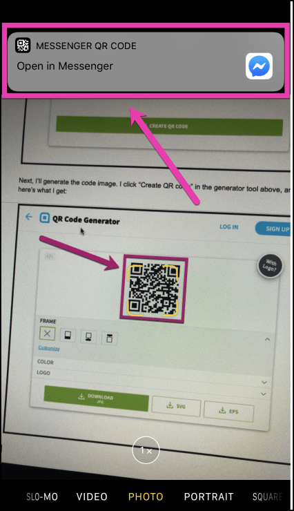 QR Codes for Facebook Messenger