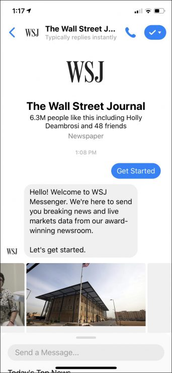 best chatbots for business - news bot