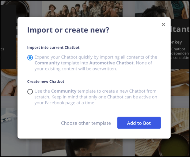 chatbot marketing import new