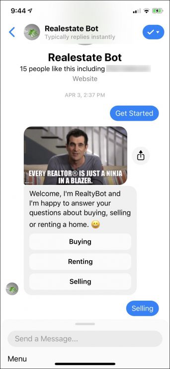 chatbot marketing for real estate
