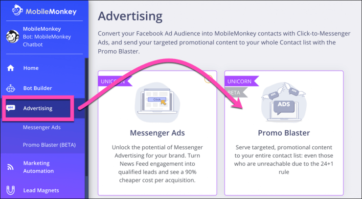 facebook advertising promo blaster