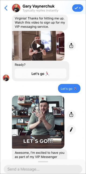facebook chatbot vip club