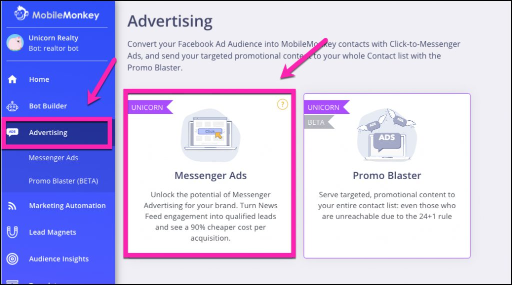 what is a chatbot - facebook messenger ads