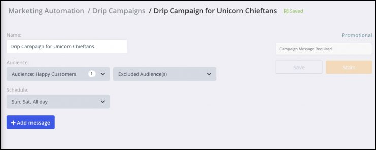 what is a chatbot - drip campaign time setup