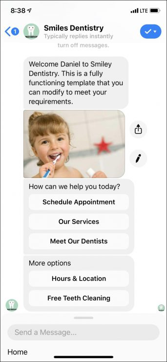 custom chatbot for dentists