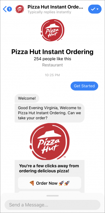 pizza hut support chatbot
