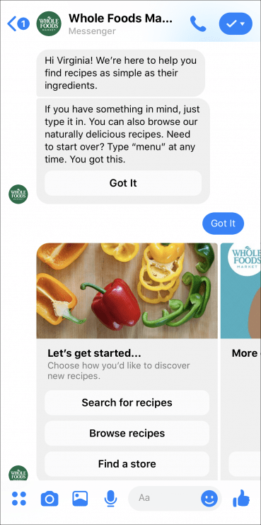 whole foods support chatbot