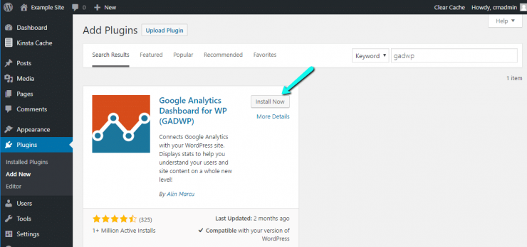 WordPress Marketing Automation Plugin: Google Analytics