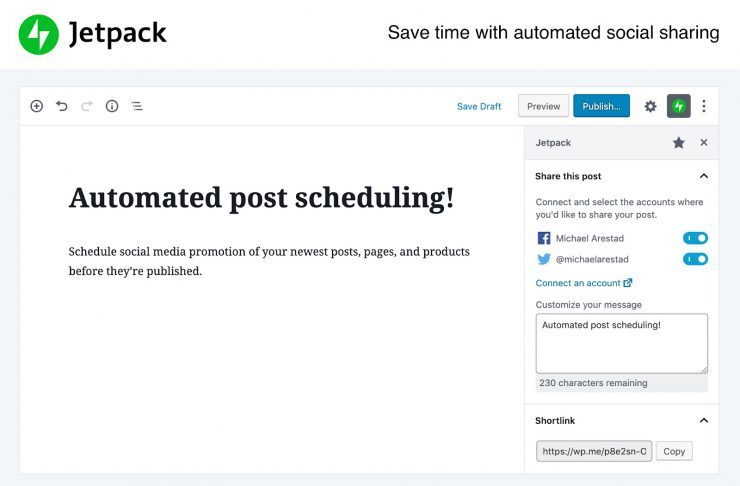 WordPress Marketing Automation Plugin: Jetpack