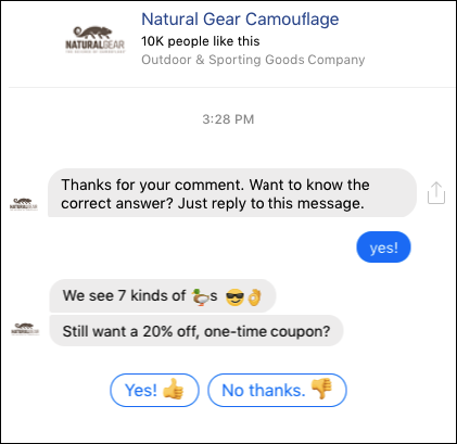 natural gear camo comment guard bot reply