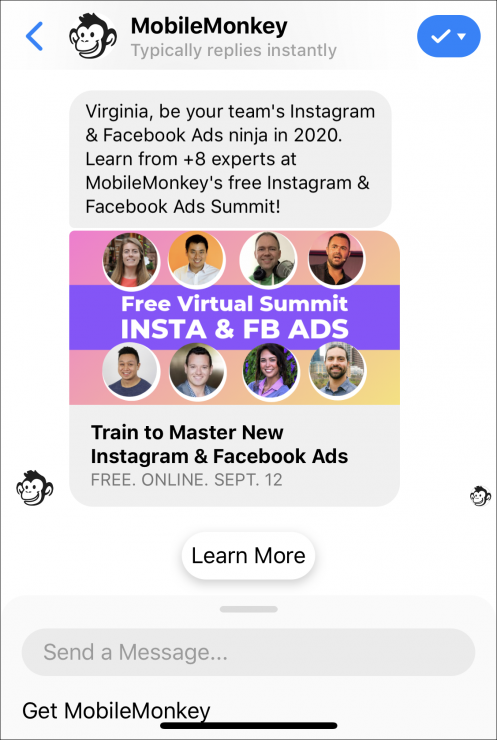sponsored messages ad