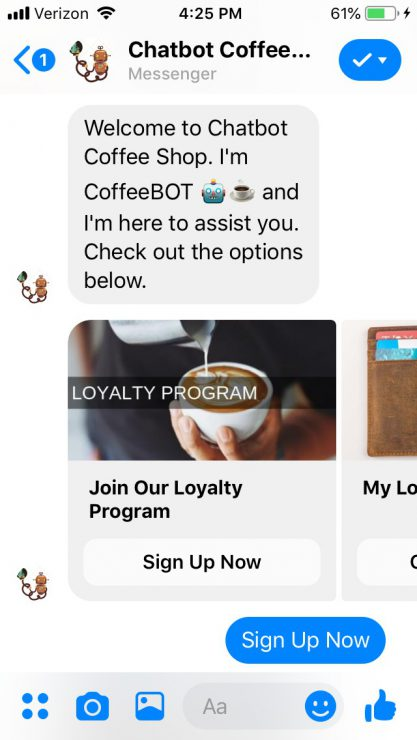 Chatbot Loyalty Program: Sign Up Now
