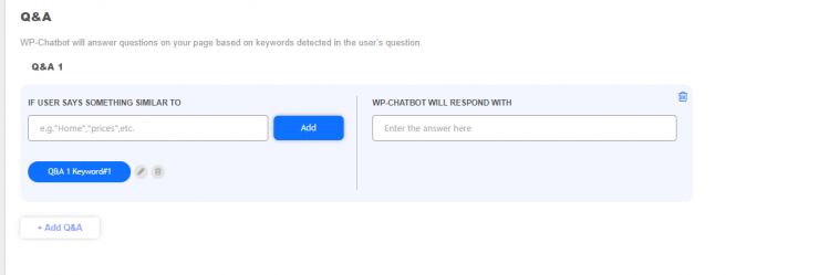 wp chatbot faq