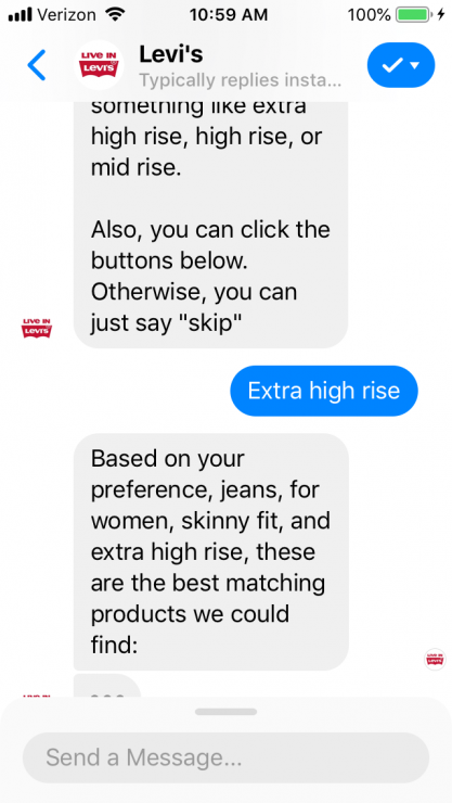 Gift Finder Chatbot: Levi's Product Recommendation bot rise preference