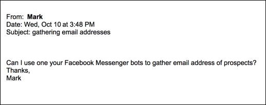 can I get emails with chatbots