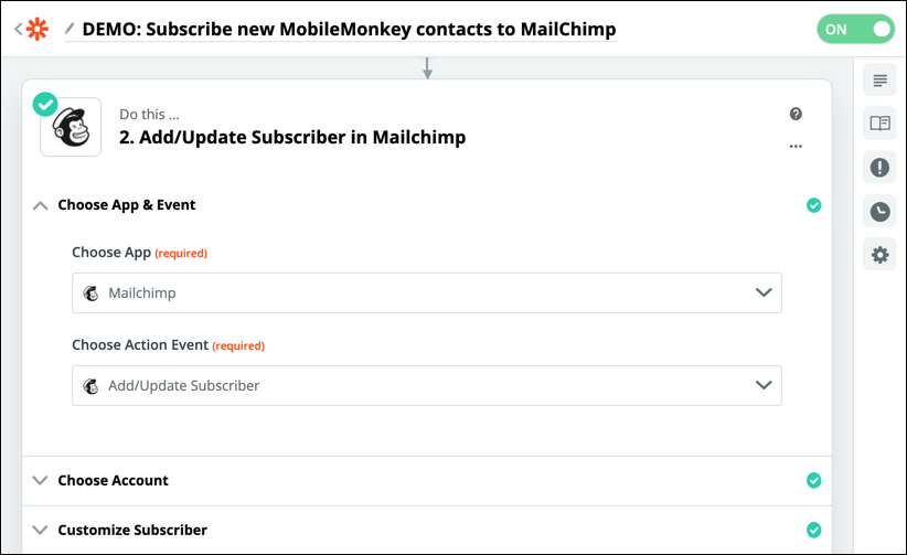 update subscriber in mailchimp