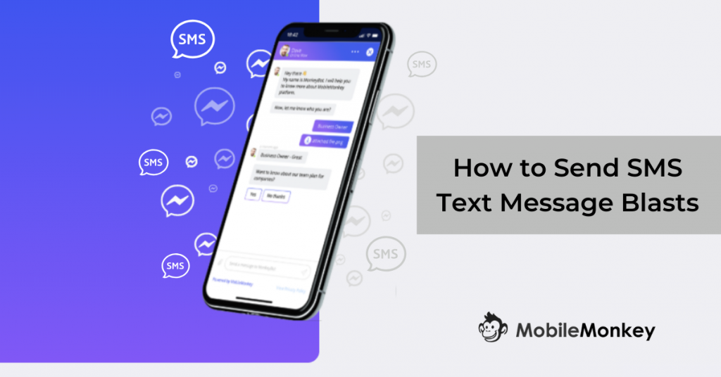 how to send text message blasts