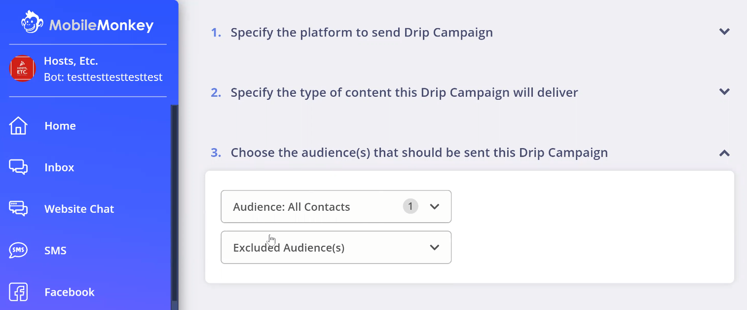 Selecting your audience