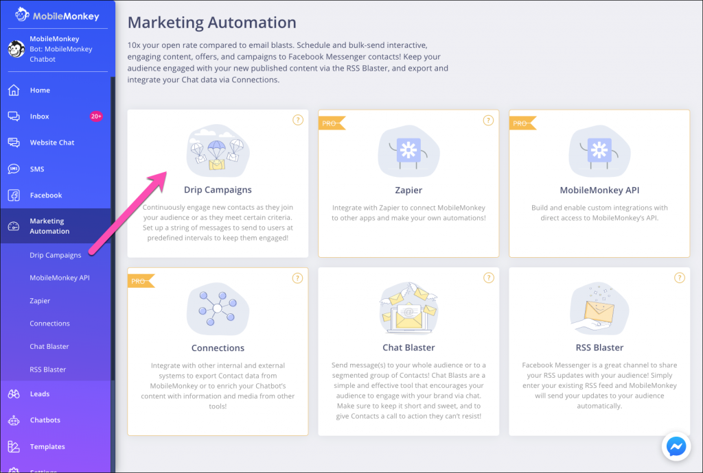 SMS drip campaign marketing automation