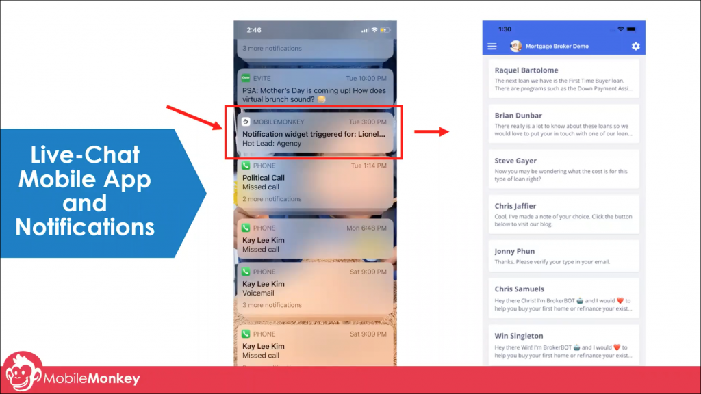 chat marketing tactics mobile push notifications