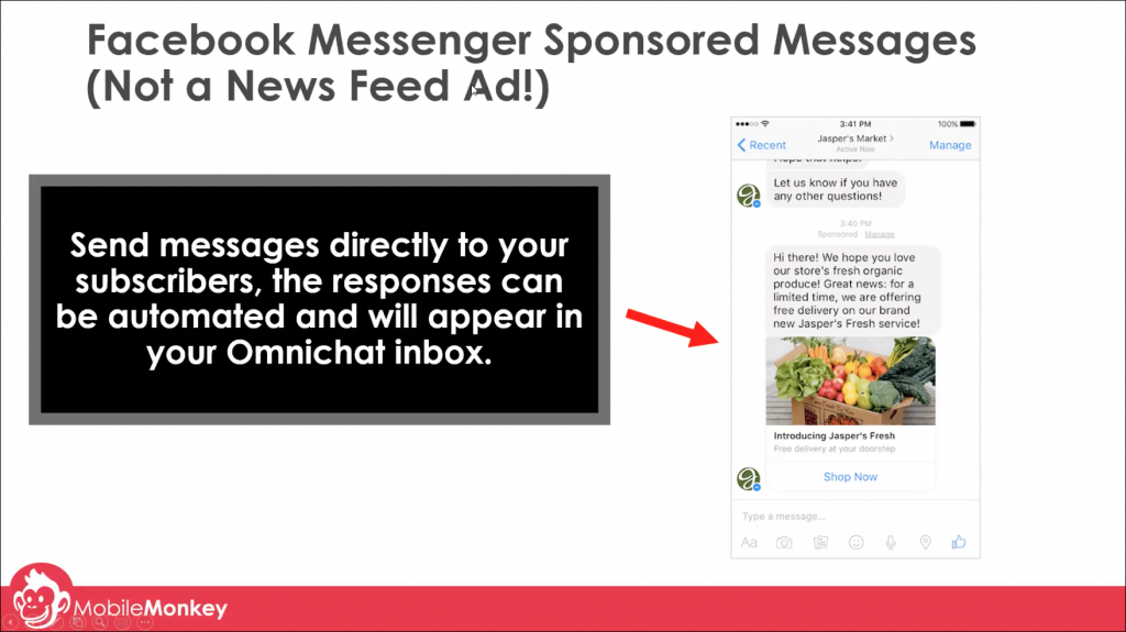 chat marketing tactics for sponsored messages