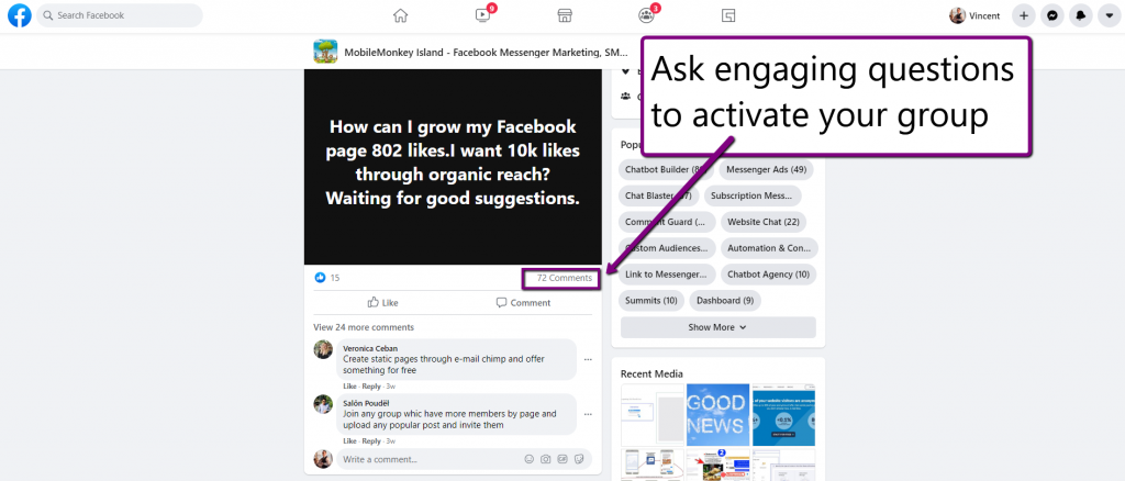 increase engagement on Facebook posts
